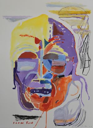 Slow Sun by Shane Cotton contemporary artwork