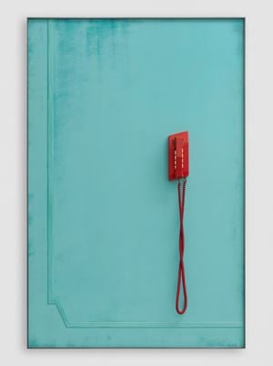 Red Telephone (Waiting) by Martin Boyce contemporary artwork