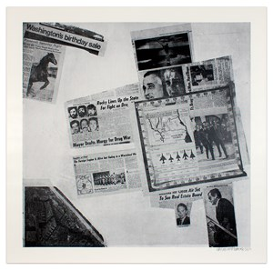 Features from Currents #57 by Robert Rauschenberg contemporary artwork
