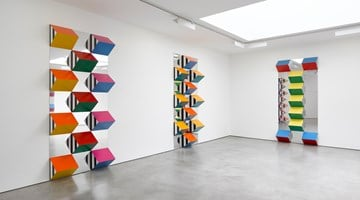 Contemporary art exhibition, Daniel Buren, PILE UP: High Reliefs. Situated Works at Lisson Gallery, London