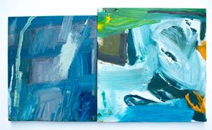 From the Atlantic coast of Maine (right) and the Pacific coast of Oregon (left) by Peter Matthews contemporary artwork