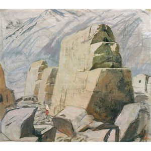 The Ruins of the Ancient City, Xinjiang by Pang Tao contemporary artwork