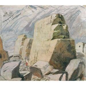 The Ruins of the Ancient City, Xinjiang by Pang Tao contemporary artwork