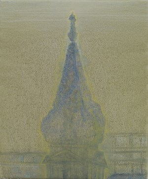 St George's Bloomsbury, Early Morning by Celia Paul contemporary artwork