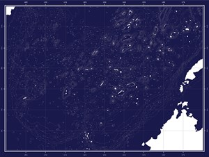 Liquid Land | Solid Sea-Chart by Map Office contemporary artwork