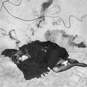 Selma Blair and Scruffy by Roger Ballen contemporary artwork