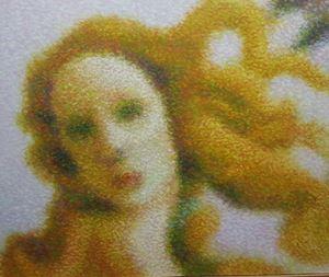 After Sandro Botticelli (Detail - The Birth of Venus) by Roldan Manok Ventura contemporary artwork