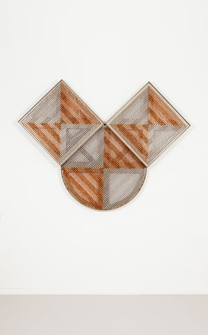 Sonic Rotating Triovular Triplets – Copper and Silver #17 by Haegue Yang contemporary artwork