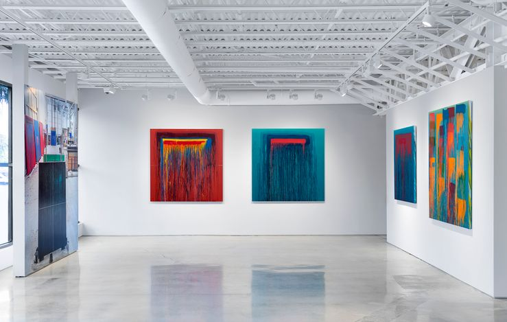 Exhibition view: Pat Steir, Considering Rothko,Lévy Gorvy, Palm Beach (6 March–4 April 2021). CourtesyLévy Gorvy.Photo: Oriol Tarridas.