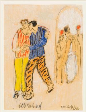 Abschied, 18.6.1932 by Else Lasker-Schüler contemporary artwork works on paper, drawing