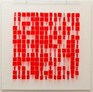 Mobile rouge sur blanc by Julio Le Parc contemporary artwork