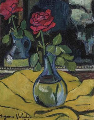 La rose au miroir by Suzanne Valadon contemporary artwork