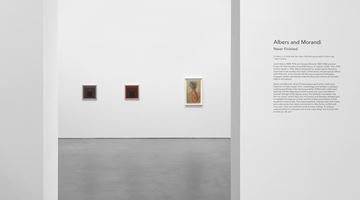Contemporary art exhibition, Albers and Morandi, Never Finished at David Zwirner, 20th Street, New York