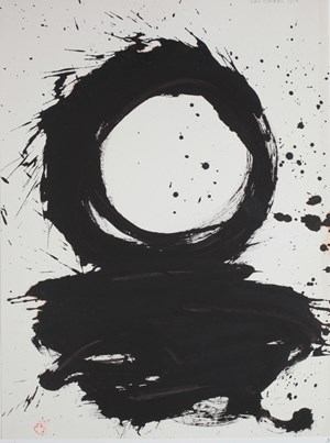 He's Hitting at a Ball on a Fast Flowing River - for Robert Motherwell by Max Gimblett contemporary artwork