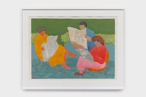 Terrace Readers by March Avery contemporary artwork painting