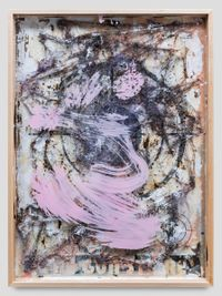 Pink Target by Michael Chow (Zhou Yinghua) contemporary artwork mixed media