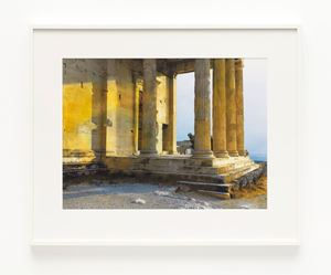 Erechtheion. North porch. Sunset by James Welling contemporary artwork