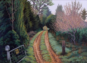 Leafy Track by Dick Frizzell contemporary artwork