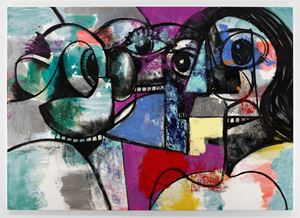 Two Hippies by George Condo contemporary artwork