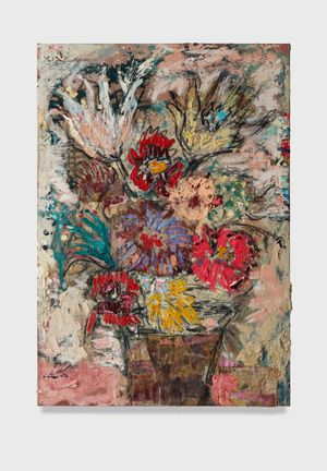 Flowers 18 (unbleached white and pink) by Daniel Crews-Chubb contemporary artwork