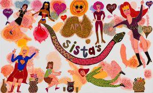 APY Sistas by Kaylene Whiskey contemporary artwork