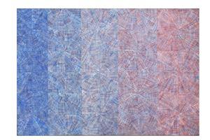 Vibrazione nello spazio totale: serialità progressiva con vibrazione cromatica by Mario Nigro contemporary artwork