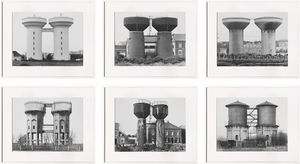 Water Towers (Wassertürme) 1963–1972 by Bernd & Hilla Becher contemporary artwork