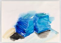 Zurich drawings 12 by Phyllida Barlow contemporary artwork painting, works on paper
