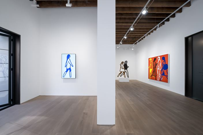 Exhibition view: Julian Opie, Lisson Gallery, Shanghai (7 November 2020–27 February 2021). © Julian Opie. Courtesy Lisson Gallery. Photo: Alessandro Wang.