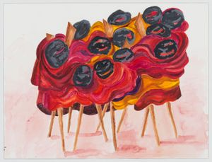 untitled: undercover; 2; 2020 by Phyllida Barlow contemporary artwork painting, works on paper