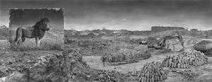 'Quarry with Lion', Inherit The Dust, Kenya by Nick Brandt contemporary artwork
