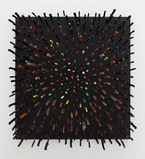 Colored Knives on Black by Farhad Moshiri contemporary artwork