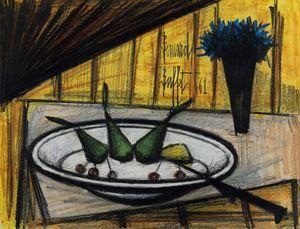 Assiette de fruits by Bernard Buffet contemporary artwork