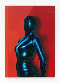 Black Phtalo Magenta Suit by Rodolpho Parigi contemporary artwork painting