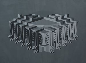 Modernist Facades for New Nations (Proposition 3) by Sahil Naik contemporary artwork