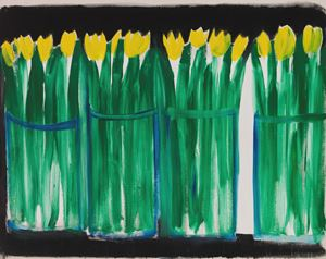 Gelbe Tulpen by Karl Horst Hödicke contemporary artwork
