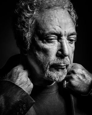 Tom Jones by Andy Gotts contemporary artwork photography, print