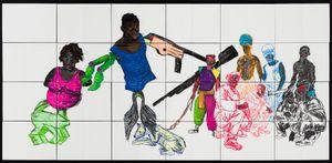 (Hood Hyena) by Pierre Mukeba contemporary artwork
