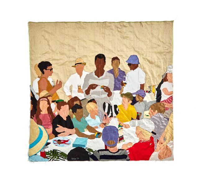 Birthday Party by Billie Zangewa contemporary artwork