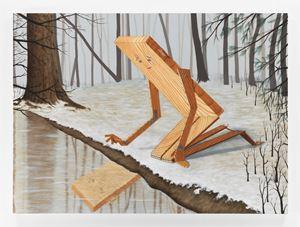 Plankboy (Narcissus) by Sean Landers contemporary artwork