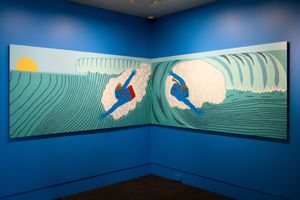 Bodysurfing by Claudia Kogachi contemporary artwork painting, works on paper