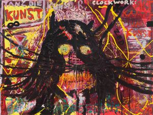 """TRAUMA ""KEINE KUNST""!"" by Jonathan Meese contemporary artwork"