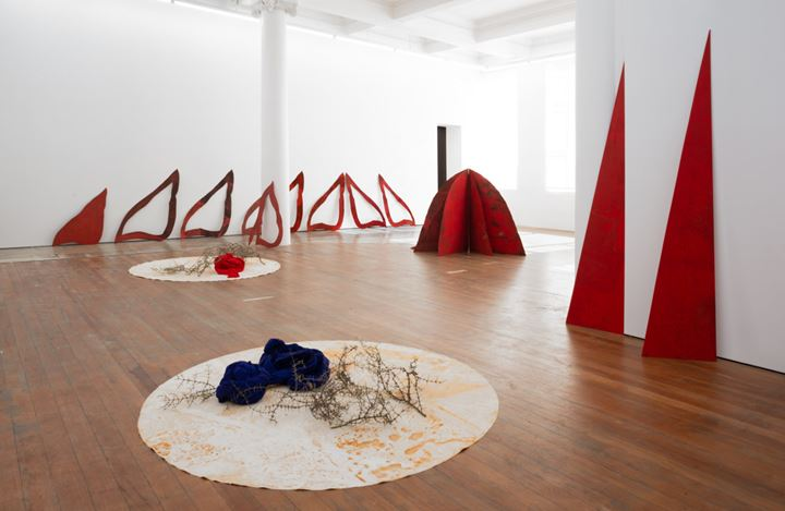 Exhibition view: Pauline Rhodes, Pleasure and Pain, Michael Lett (27 February–30 March 2019). Courtesy Michael Lett.