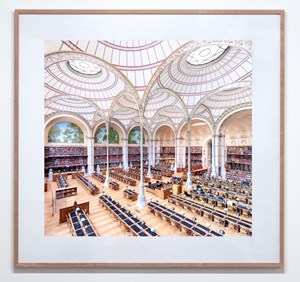 La Salle Labrouste - La Bibliothèque de l'INHA Paris III 2017 by Candida Höfer contemporary artwork