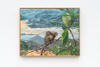 Macaco con Caracol gigante africano (Callithrix jacchus con Achatina fulica) by Alberto Baraya contemporary artwork painting
