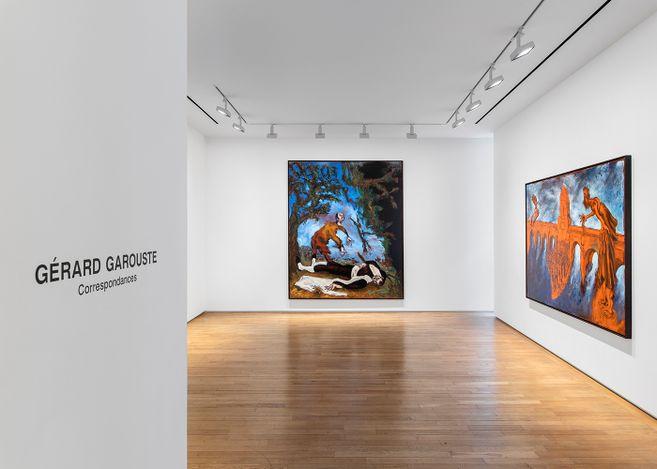 Exhibiton view: Gérard Garouste, Correspondances (Gérard Garouste - Marc-Alain Ouaknin), Templon, Grenier Saint-Lazare, Paris (25 March–19 June 2021). © Courtesy Templon, Paris - Brussels. Photo: Nicolas Brasseur.
