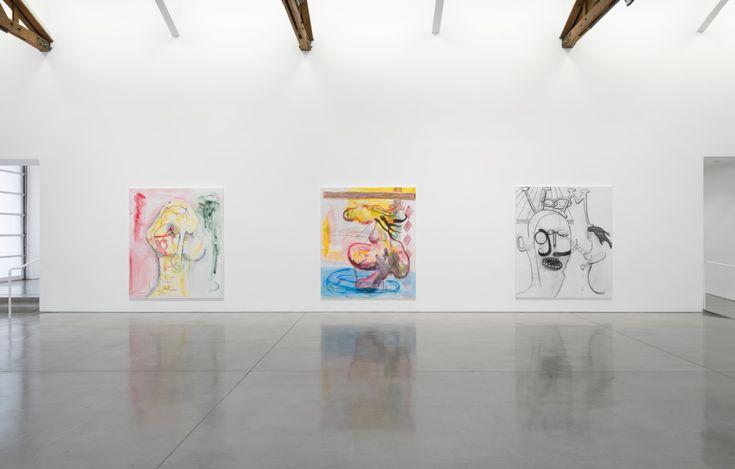 Exhibition view: Albert Oehlen,Tramonto Spaventoso, Gagosian, Beverly Hills (22 April–5 June 2021). © Albert Oehlen. Courtesy Gagosian.Photo: Jeff McLane.