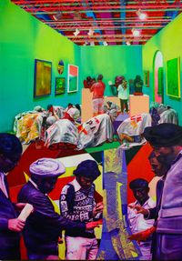 Don't Touch The (Modern) Art by Zico Albaiquni contemporary artwork painting, works on paper