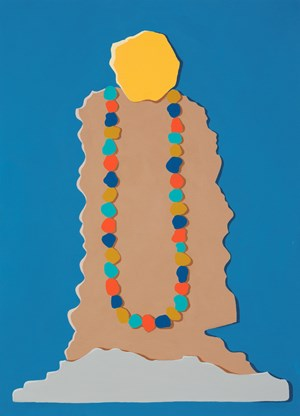 Head/Figure Emblem by Michelle Hanlin contemporary artwork
