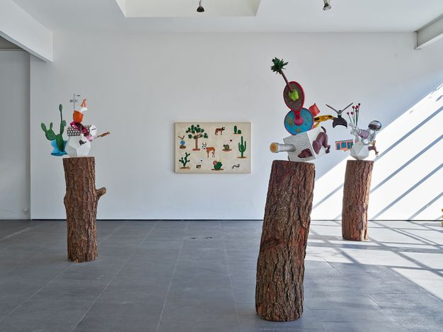 Exhibition view: Gabriel Rico, I may use an electric drill, but I also use a hammer,OMR, Mexico City (20 March–17 July 2021).Courtesy OMR. Photos: Fernando Marroquin.